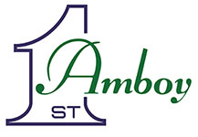 First National Bank of Amboy logo.